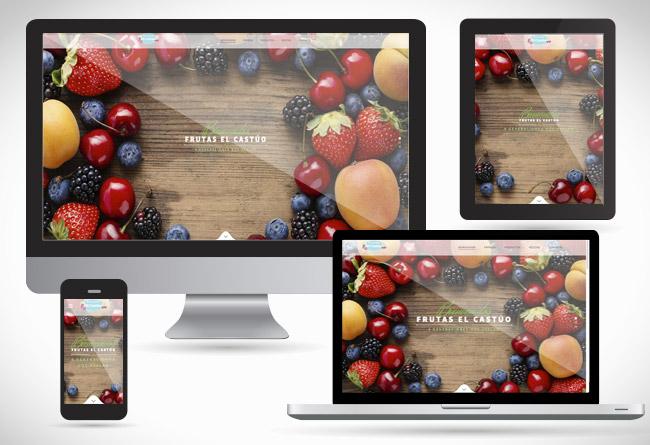 Frutas El Castúo, web responsive diseñada por Alsernet