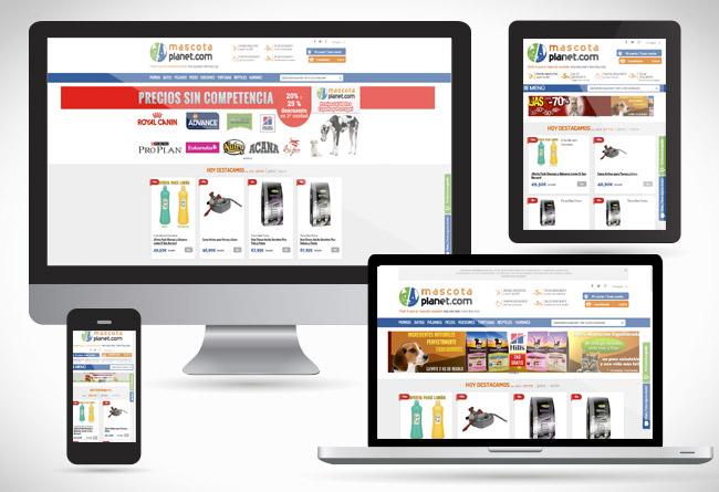MasctaPlanet, web responsive realizada por Alsernet