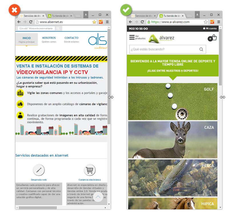 Ejemplo de diseño web responsive